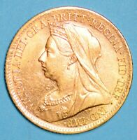 HIGH GRADE 1899 QUEEN VICTORIA VEILED HEAD SHIELD GOLD HALF