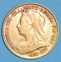 NICE COLLECTIBLE 1896 QUEEN VICTORIA VEILED HEAD SHIELD GOLD