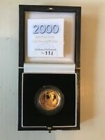 CHOICE PROOF 2000 PROOF GOLD 1/4TH OUNCE BRITANNIA   BOX & C