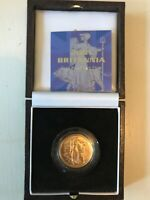 CHOICE PROOF 2001 PROOF GOLD 1/4TH OUNCE BRITANNIA   BOX & C