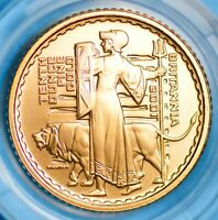 CHOICE PROOF 2001 PROOF GOLD 1/10TH OUNCE BRITANNIA   BOX &