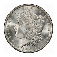 1903-O $1 MORGAN DOLLAR PCGS MINT STATE 66 CAC 3182-1 BLAST WHITE