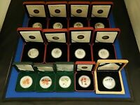 UNIQUE .9999 SILVER MAPLE LEAF  13  COIN COLLECTION   REVERS