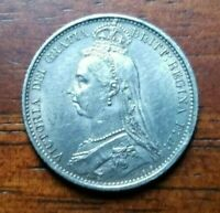 1887 GREAT BRITAIN VICTORIA SIXPENCE WITHDRAWN TYPE HIGH GRA