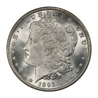 1893 $1 MORGAN DOLLAR PCGS MINT STATE 65 CAC 3134-11 CONDITION RARITY ONLY SIX FI
