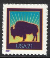 SCOTT 3468  BISON/ BUFFALO LARGE DATE  MNH  S/A  21C 2001  UNUSED MINT STAMP