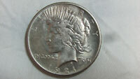 NICE KEY DATE 1921 P SILVER PEACE DOLLAR $1 US COIN   UNGRAD