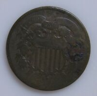 1864 TWO CENT COIN-WEAK DATE