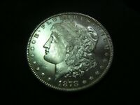 1878-S MORGAN SILVER DOLLAR  A REAL MSMAYBE GEM BRILLIANT UNC NEWPS