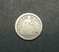 1856-P 10C SEATED LIBERTY ONE DIME SILVER US COIN M2343