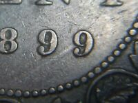 1899 CANADA LARGE CENT REPUNCHED 9 QUEEN VICTORIA LOT 11