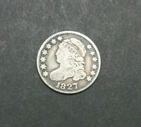 1827 CAPPED BUST DIME CIRCULATED PHILADELPHIA 10C SILVER COIN M2226