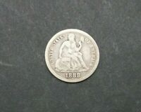 1888-P 10C SEATED LIBERTY ONE DIME SILVER US COIN  M2280