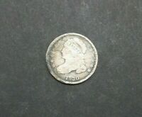 1830 CAPPED BUST DIME CIRCULATED PHILADELPHIA 10C SILVER COIN M2228