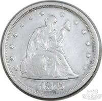 1875 S SEATED LIBERTY 20 CENT PIECE 20C EARLY US SILVER COIN 17570