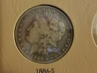 MORGAN DOLLAR 1886-S  F