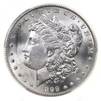 1899-S MORGAN $1 PCGS CERTIFIED MINT STATE 65 MINT STATE GRADED US SILVER DOLLAR COIN