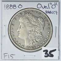 1888-O MORGAN DOLLAR TOP 100 VAM 17 OVAL O  FROM RECENT ESTATE PURCHASE