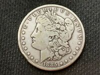 1885-P  MORGAN DOLLAR   EXTRA FINE         3 OR MORE  FREE S/H       90 SILVER    A1986