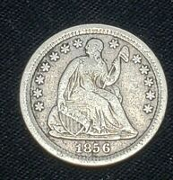 1856 UNITED STATES SEATED LIBERTY SILVER HALF DIME