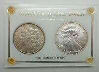 1900-P MORGAN DOLLAR KEY DATE US SILVER COIN $1 ONE HUNDRED YEAR 2000 EAGLE V237