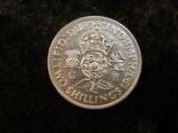 SILVER OLD WORLD COIN LOT GREAT BRITAIN FLORIN 1939 KM855  2