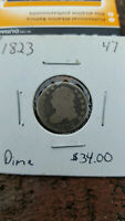 1823 CAPPED BUST DIME GOOD EXAMPLE