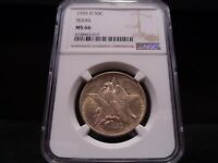 1935-D MINT STATE 66 TEXAS SILVER COMMEMORATIVE NGC CERTIFIED SUPERB GEM - LIGHTLY TONED
