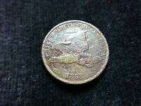 1858 FLYING EAGLE CENT, SMALL LETTERS, VG-FINE