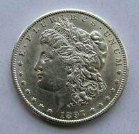 1897-S MORGAN SILVER DOLLAR AU-UNCIRCULATED LIGHTLY DIPPED