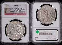 1894-O MORGAN SILVER DOLLAR - NGC EXTRA FINE 45 - STACK'S W 57TH ST COLLECTION