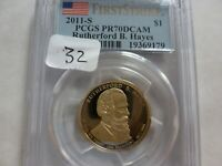 2011-S RUTHERFORD B. HAYES DOLLAR PCGS PR70DCAM FIRST STRIKE 79