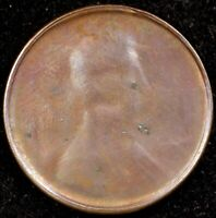 NO DATE LINCOLN CENT ERROR  STRUCK THROUGH EARLY STAGE DIE CAP  STRONG REVERSE