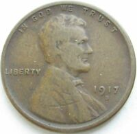 1917-S LINCOLN WHEAT CENT IN A SAFLIP - FINE- VG