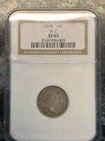 1800 DRAPED BUST DIME NGC EXTRA FINE  45 JR-2