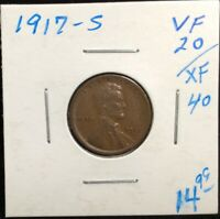 1917-S LINCOLN WHEAT CENT CENT 1, SAN FRANCISCO MINT