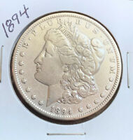 1894 MORGAN SILVER DOLLAR, VF DETAILS