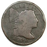 1795 S-74 R-4- LETTERED EDGE LIBERTY CAP LARGE CENT COIN 1C