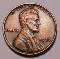 1936 P LINCOLN WHEAT CENT PENNY -  > WHEATS<   -  SHIPS FREE