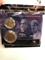 PRESIDENTIAL $1 COIN AND FIRST SPOUSE MEDAL SET BEJAMIN HARRISON 1889-1893