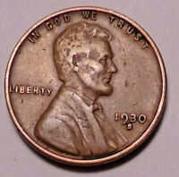 1930 S LINCOLN WHEAT CENT PENNY -  BETTER GRADE  - SHIPS FREE