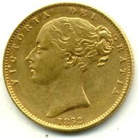 1862 LONDON QUEEN VICTORIA  SHIELD BACK FULL GOLD SOVEREIGN