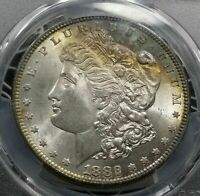 1882-S  MORGAN DOLLAR PCGS MINT STATE 64 VAM-16   RAINBOW TONING