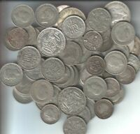 PRE 1947 SMALL SILVER COINS 180  GMS   SOLD AS SCRAP THOUGH