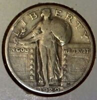1929 25C STANDING LIBERTY SILVER 90 QUARTER US COIN