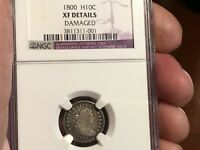 1800 LM-2 R.7 HALF DIME NGC EXTRA FINE  DETAILS