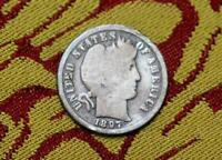RARE  1897 O BARBER DIME  GOOD COIN OFFERED AT NO RESERVE
