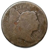 1796 S 90 R 5  UPSET REVERSE LIBERTY CAP LARGE CENT COIN 1C