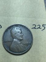 1933-D LINCOLN WHEAT CENT,  CONDITION,  DATE, 225