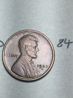 1922-D LINCOLN WHEAT CENT,  DATE, 84